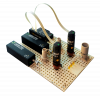 uProcess automated microfluidic 3-port valve AV201 on breadboard with SPS01 syringe pumps, breadboard reservoirs and other uProcess components