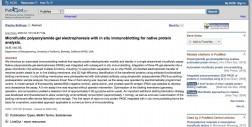 Microfluidic Polyacrylamide Gel Electrophoresis with In-situ Immunoblotting for Native Protein Analysis