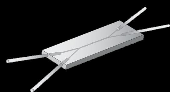 Hummingbird Nano X-style helical channel microfluidic  mixing chip.