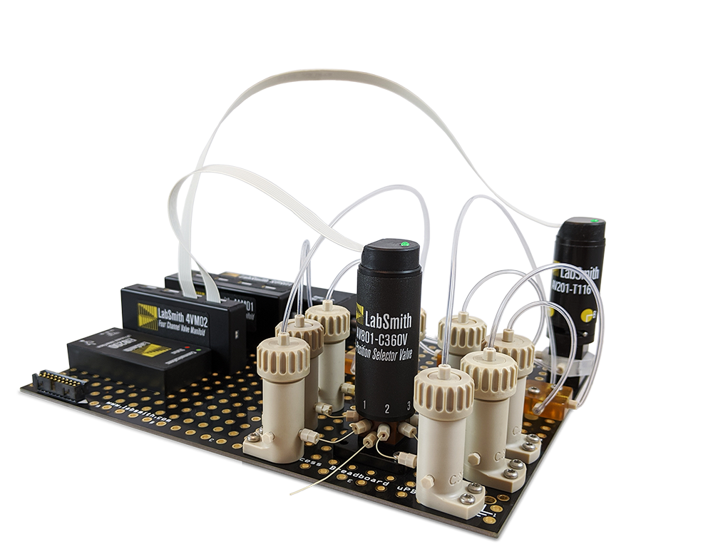 Microfluidic Valve LabSmith -programmable selector valves and injector valves