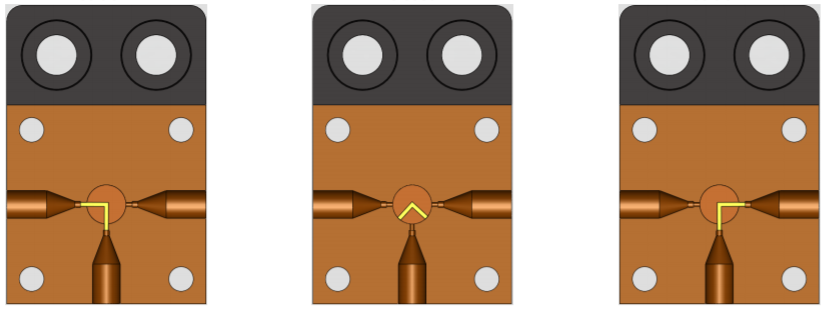 uProcess automated microfluidic 3-port valve AV201 configurations