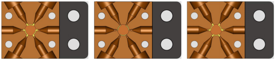 LabSmith AV303 Automated Microfluidic Valve Positions Diagram